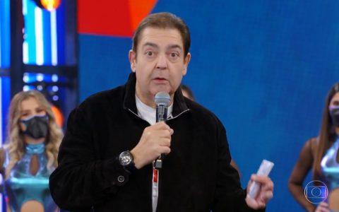 Fausto Silva no Domingão do último domingo (25); apresentador vai para a Band em 2022 - Foto: Reprodução