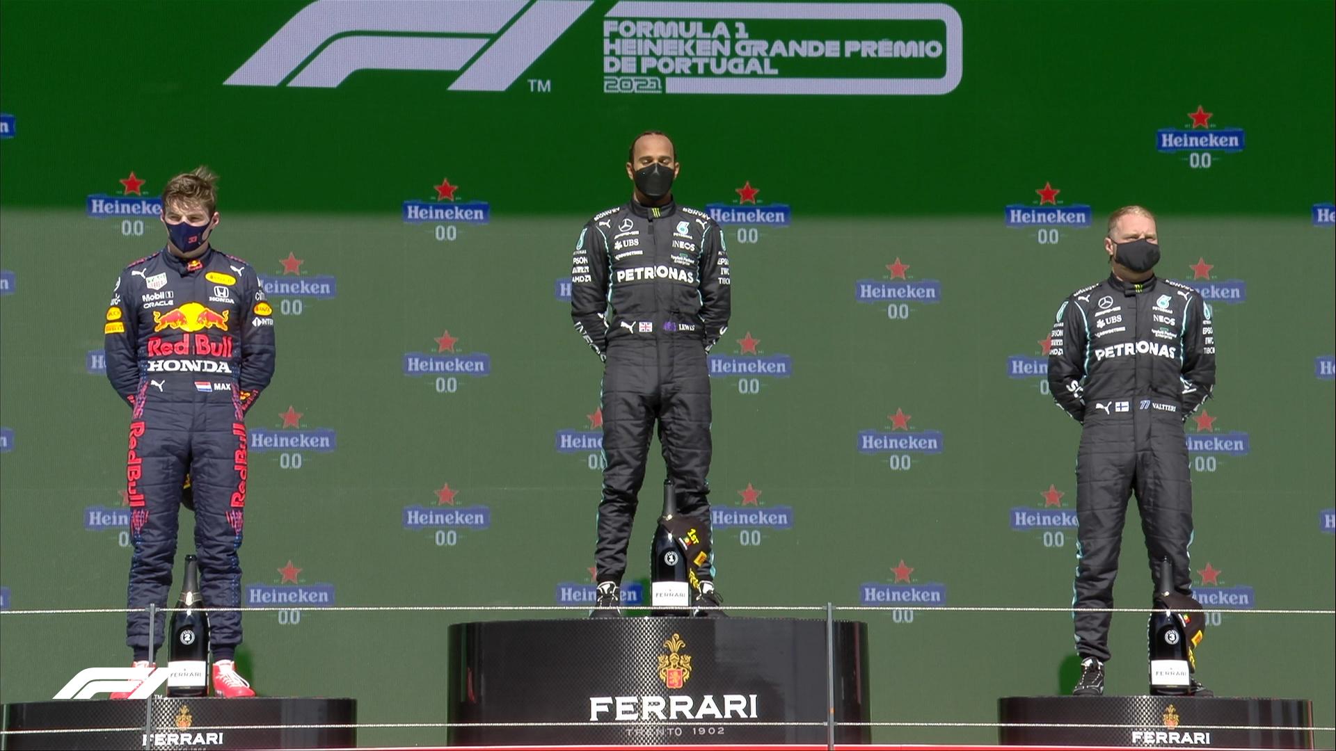 Pódio do GP de Portugal