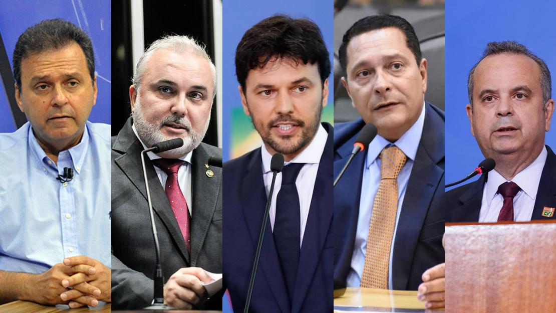 Carlos Eduardo, Jean Paul, Fábio Faria, Ezequiel Ferreira e Rogério Marinho