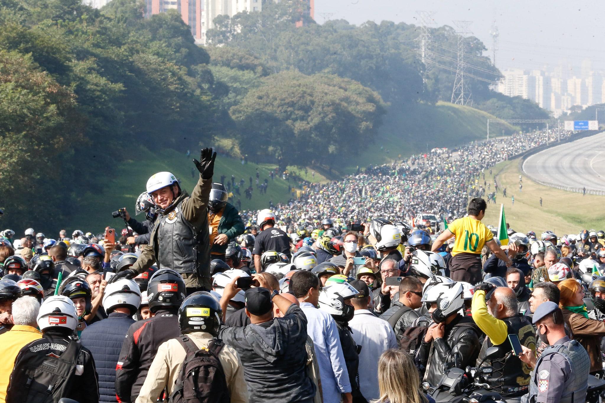Motociata de Bolsonaro em São Paulo - Foto: Foto: Alan Santos/PR