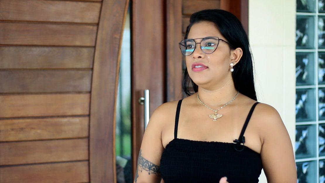 Natália Abade, vítima de violência doméstica