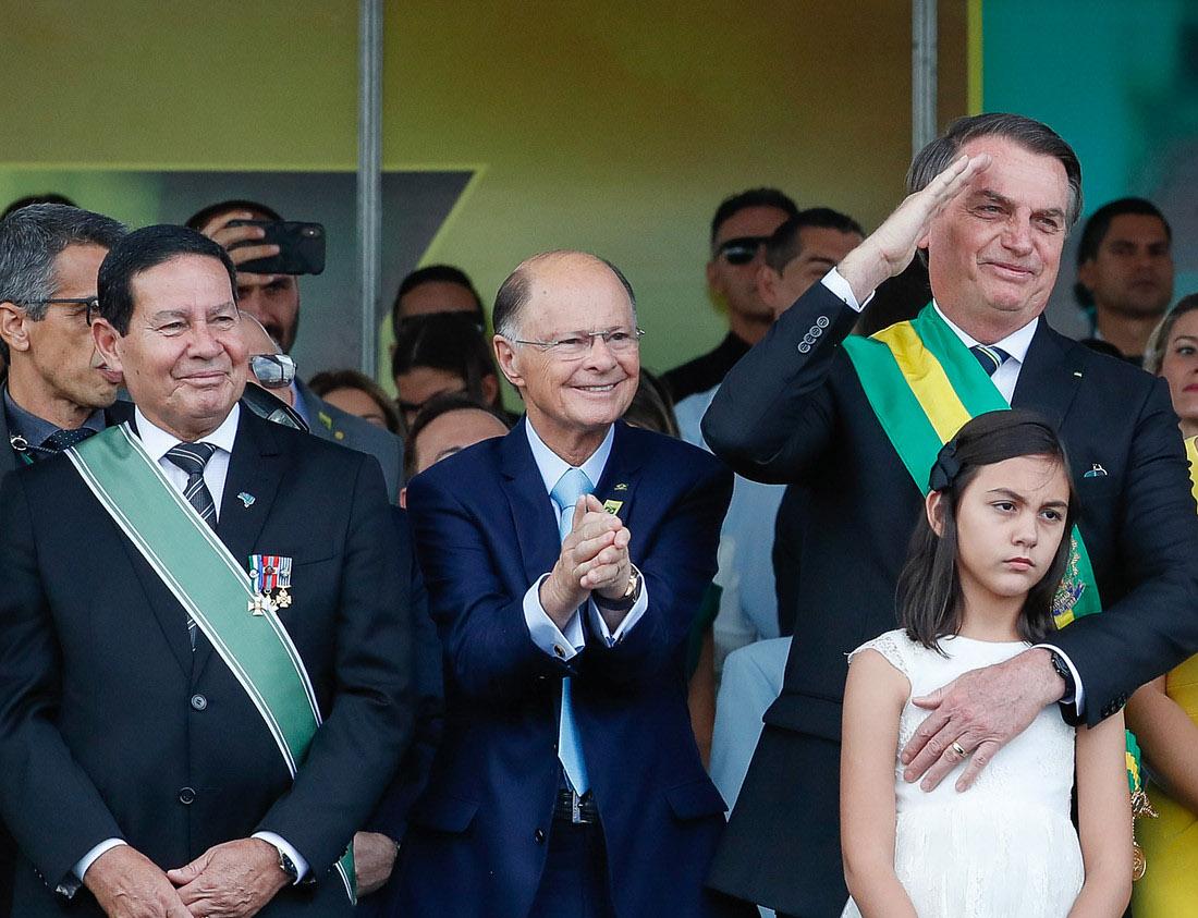 Mourão, Edir Macedo e Bolsonaro