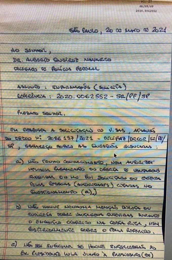 Carta de Léo Pinheiro