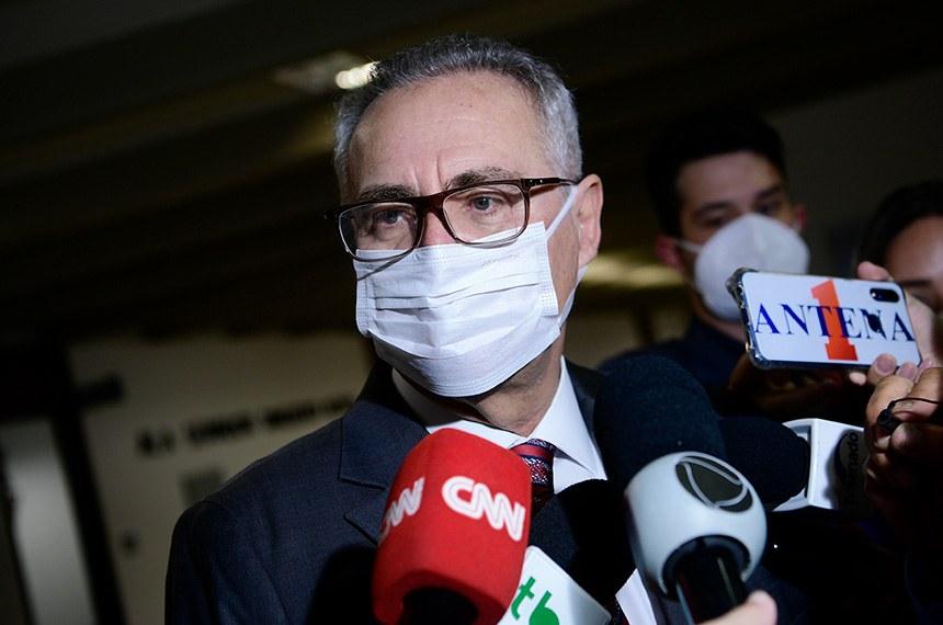 Senador Renan Calheiro, relator da CPI da Pandemia - Foto: Pedro França/Agência Senado